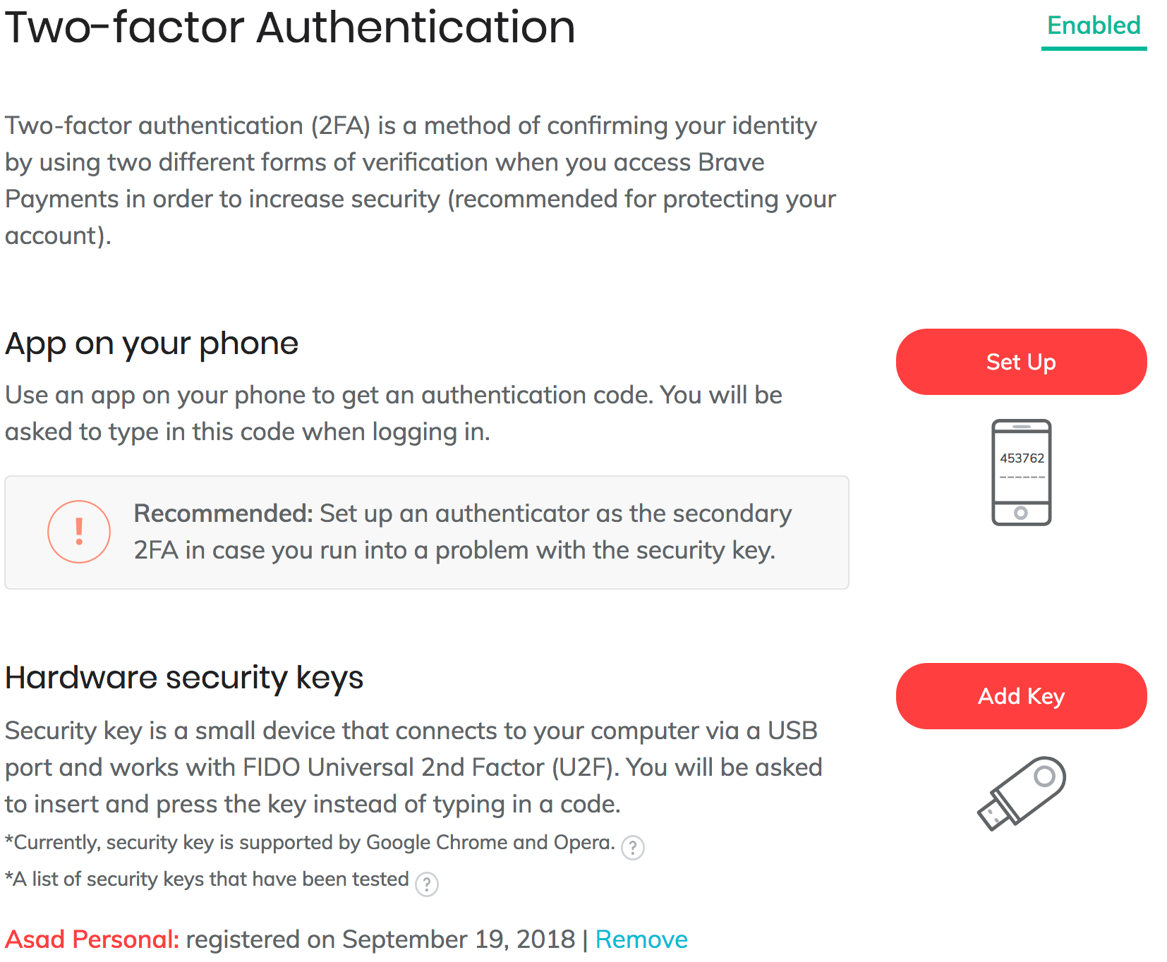 How do I set up 2-Factor Authentication for Brave Rewards? – Brave